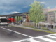 Conceptual rendering of Red Line station design by Sean Morrissey, an architect from Indiana now practicing in Seattle. Studies show that commercial and residential properties in proximity to such rapid transit stations realize a sales price premium. Image courtesy IndyGo.