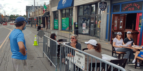 Street Closures Promote Social Distancing While Dining Outdoors