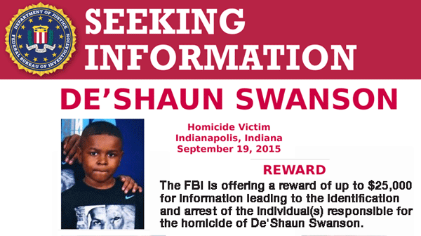 Help Find De'Shaun Swanson's Killer