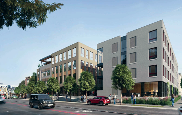 Exterior of Broad Ripple mixed use building