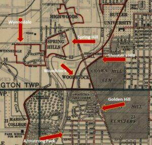 1945 neighborhood map