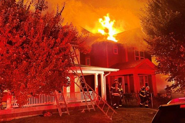 Two Mapleton-Fall Creek Families Lose Homes to Fire
